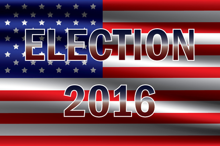 USA presidential election 2016 on USA flag background