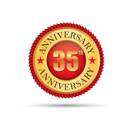 35th: Golden badge 35 years anniversary