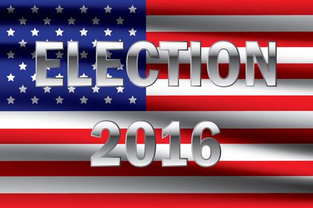 senate: USA presidential election 2016 on USA flag background