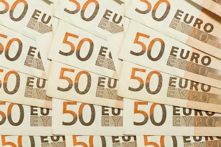 50 euro: 50 euro banknote bills texture as background