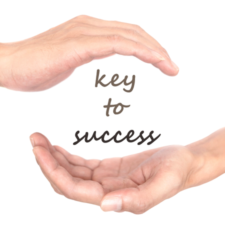 spiritual energy: Hands concept for key to success. Representing what is the key to success in life and business. Stock Photo