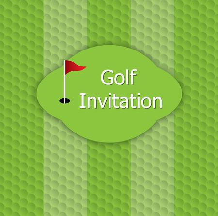 Golf tournament invitation graphic design golf green fairway golf tournament invitation graphic design golf green fairway flag and hole on golf stopboris Choice Image