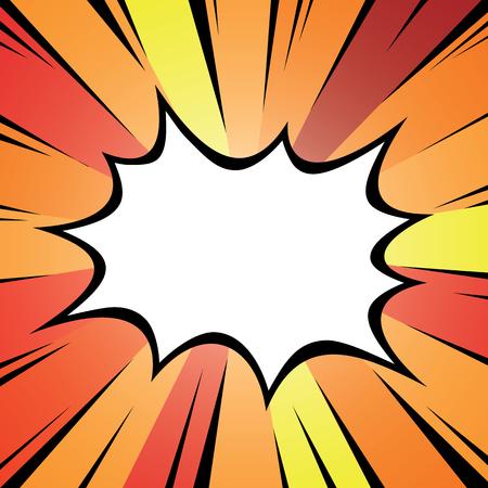 dialog box: Cartoon comic graphic design for explosion blast dialog box background.