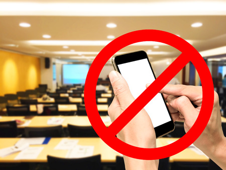 No Smartphone, cellphone, phone calling in conference meeting room. It's prohibited and not allow.