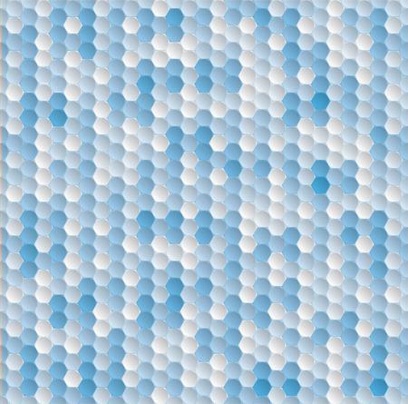 azure: Golf ball seamless pattern - azure blue color for background. Sport geometric hexagon background.