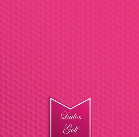 Pink golf ball texture seamless pattern for ladies golf background. Vector graphic design