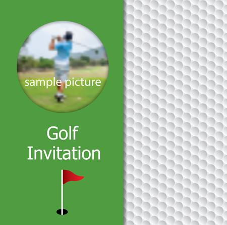 Golf Tournament Invitation Flyer Template Graphic Design Golfer