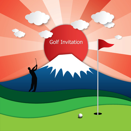 Golf Tournament Invitation Flyer Template Graphic Design. Silhouette on miniature putting green, zip line tower design, rafting course design, shooting course design, obstacle course design, sporting clay course design, putt-putt course design, paintball course design, show jumping course design, cross country running course design, dog rally course design, miniature golfing, miniature home, croquet course design, equestrian course design, putting course design, laser tag course design, culinary arts kitchen design, 3d archery course design, softball course design,