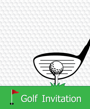 Golf Tournament Invitation Flyer Template Graphic Design. Golf ...