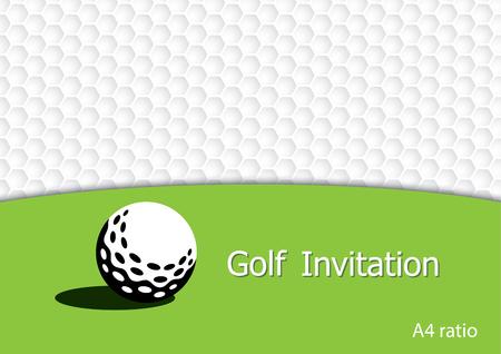 golf tournament invitation flyer template vector graphic design