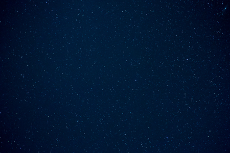 Long exposure clear night sky with shiny stars for background. Stock Photo