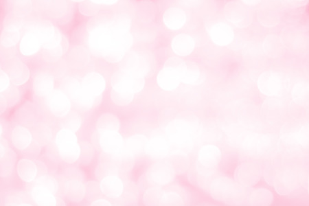 Abstract blur sweet pink bokeh for love, romance and valentine background. Stock Photo