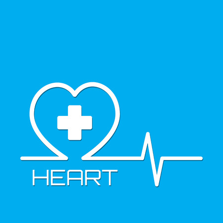 Heart medical and healthcare vector graphic design background.