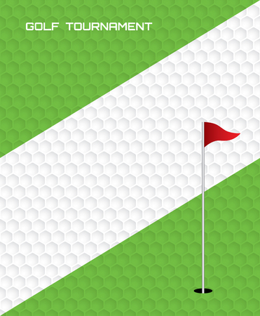 Progettazione grafica del modello dell'aletta di filatoio del manifesto dell'invito del torneo di golf.
