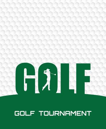 Golfturnier Einladung Flyer Plakat Vorlage Grafikdesign. Vektorgrafik