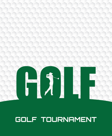 Progettazione grafica del modello del manifesto dell'aletta di filatoio dell'invito del torneo di golf. Vettoriali