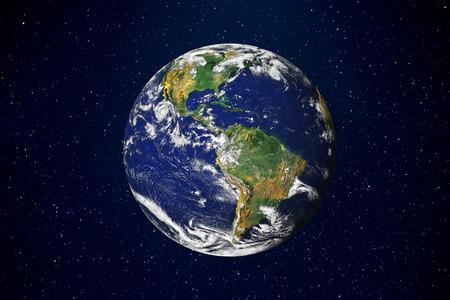 Erde auf schwarzem Hintergrund Standard-Bild