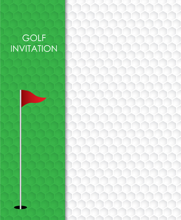 Diseño gráfico de vector de plantilla de volante de invitación de torneo de golf.