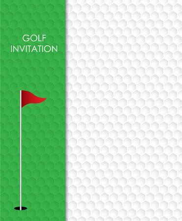 Progettazione grafica di vettore del modello dell'aletta di filatoio dell'invito del torneo di golf.