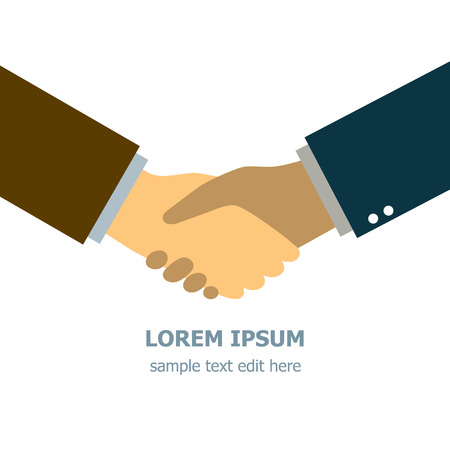 Businessman making handshake representing friendship, partnership, deal, agreement, teamwork, cooperation.