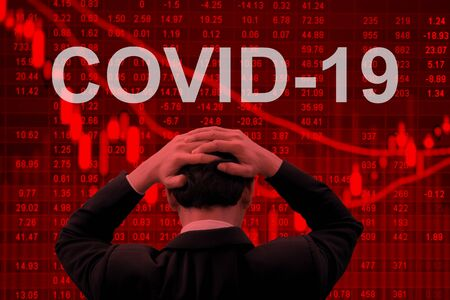Covid-19 epidemic making world economy in serious crisis. Imagens