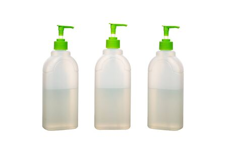 Plastic white bottle. Cleaning Products and Supplies