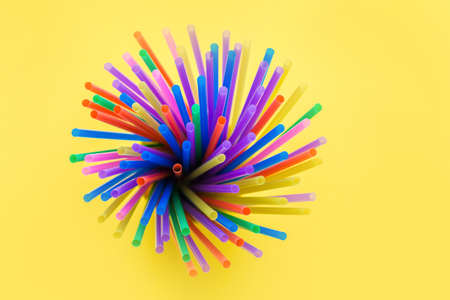 Fireworks or fireworks from a variety of plastic colored straws