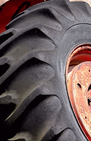 large tractor tire photo
