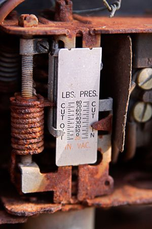 old items: antique pressure measuring device