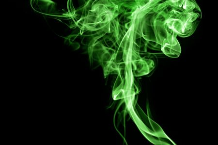 bright green smoke cloud abstract good for drug concept photo