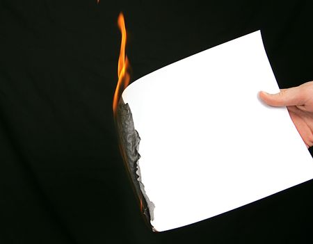 burning time: time running out burning edge of paper