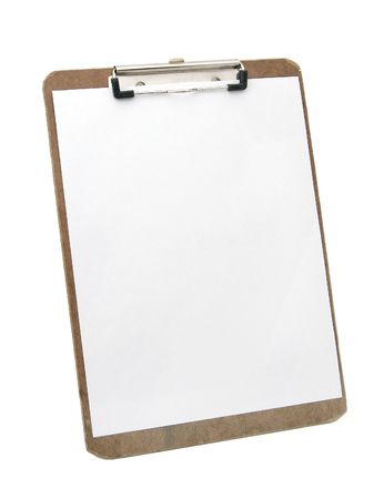 wooden clipboard and blank paper Stock Photo - 2836137