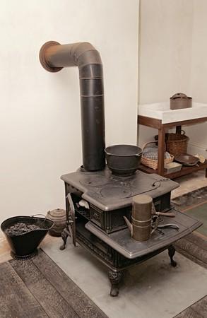 Una antigua cocina típica de la Revolución Americana Foto de archivo - 3956727
