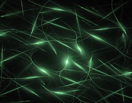 검정 위에 웹 배경에 대한 녹색 squiggle 벽지 프랙탈