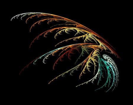 one colorful abstract fractal background wallpaper over black