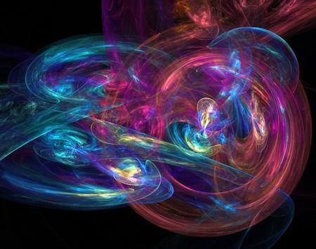 abstract fractal wallpaper design over a black background