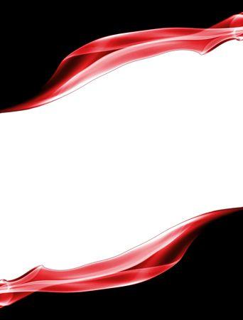 Rode en witte rokerige pagina-indeling met copyspace en een zwarte achtergrond Stockfoto - 6552365