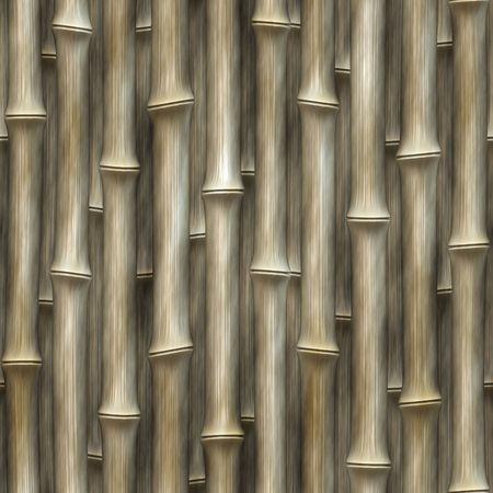 Realistische computergenerierte Grafik Muster Zeilen der Bambus vertikal gestapelt in gerade Linien Standard-Bild - 6688531