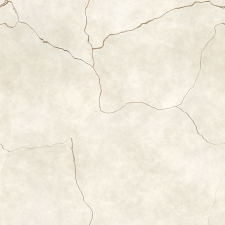 cracked cement: computer generated seamless tile image of cracked plaster in light beige or tan Stock Photo