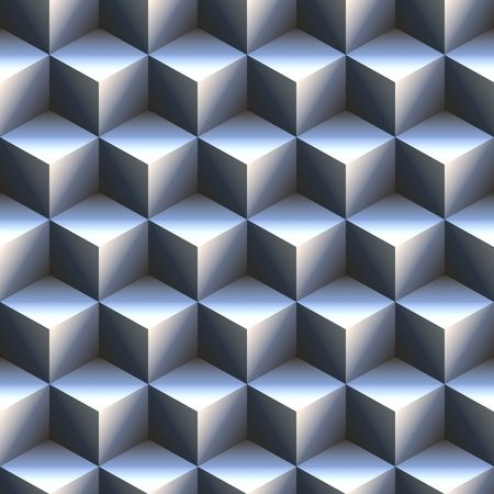 computer generated 3d staircase of blue and white cubes. tiles seamlessly Stock Photo