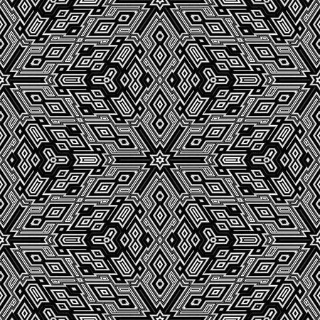 黒と白の 3 d キューブを繰り返します。タイルをシームレスに。 写真素材