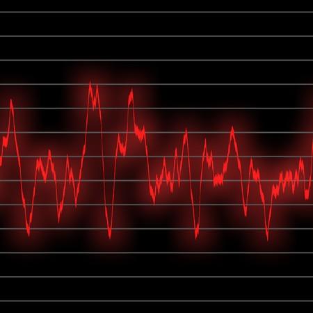 전자 음악은 네온 녹색 빛나는 oscilliscope에서 친다. 긴 비트 패턴을 위해 타일을 매끄럽게 만든다. 스톡 콘텐츠