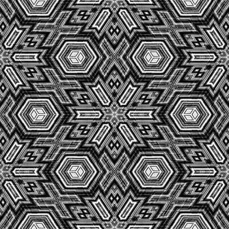black and white repeating 3d cubes. tiles seamlessly. photo