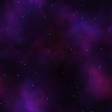 starry sky night with purple light clouds and many stars