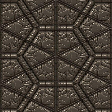seamless tile: brown textured leather background pattern. tiles seamlessly