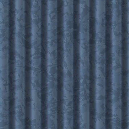 ribbed blue metal background texture. tiles seamlessly