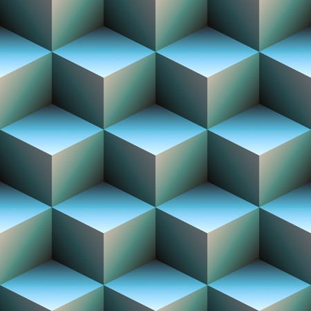 glass reflection: computer generated 3d staircase of blue and white cubes. tiles seamlessly Stock Photo