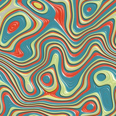 seamlessly: red, yellow and blue colorful swirls wallpaper background. tiles seamlessly Stock Photo