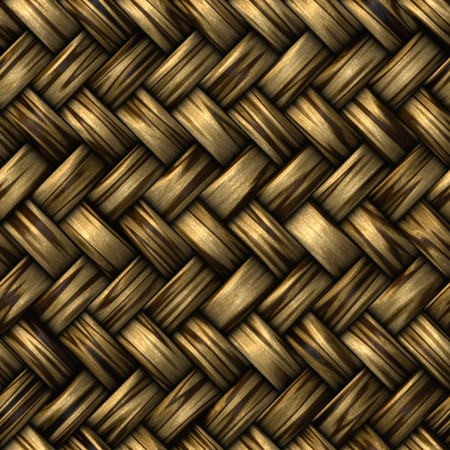 heavy brown weave of brown wicker rings. seamless tile for larger application Stock Photo