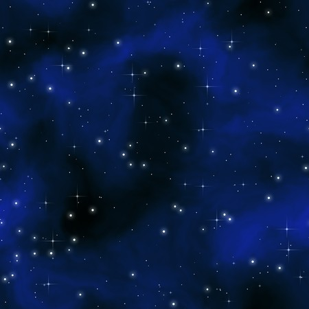 astral: starry sky night with blue light clouds and many stars